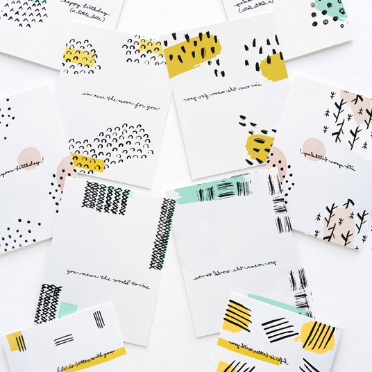 I will create creative stationery - colorful postcards, greeting cards, book, notebook covers