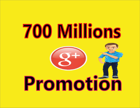 Promote Your Any Link 700 Millions Google Plus Active Members