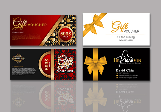 I will Design Gift Vouchers Or Gift Certificate, Gift card or Event Ticket For You