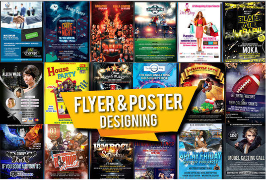 I will design a Flyer, Poster, Banner or anything related to Graphic Designing with Free Revision