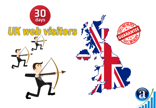I will send UK web visitors for 30 days organic web traffic with search keyword