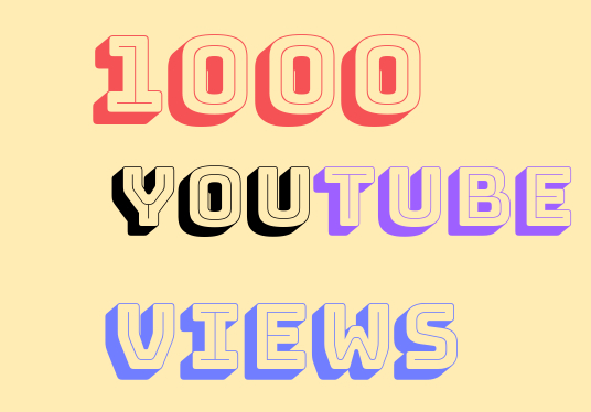 I will provide 1000 YouTube video View