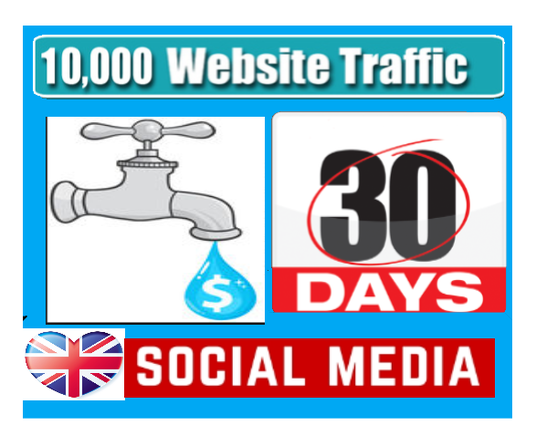 I will drip feed UK traffic for 30 days from SOCIAL MEDIA to your website