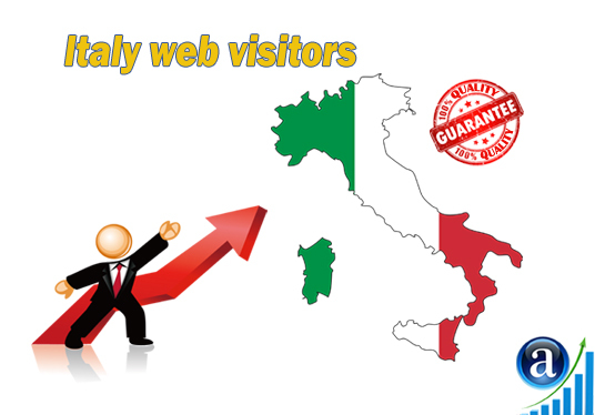 I will send 25000 web visitors from Italy organic web traffic with search keyword