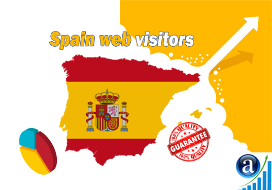 I will send 15000 web visitors from Spain organic web traffic with search keyword