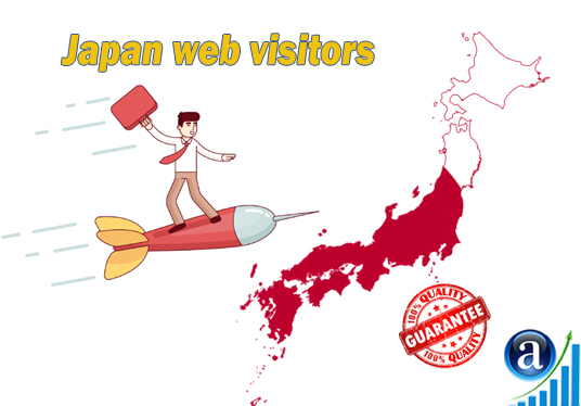 I will send 25000 web visitors from Japan organic web traffic with search keyword