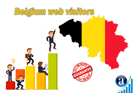 I will send 15000 web visitors from Belgium organic web traffic with search keyword