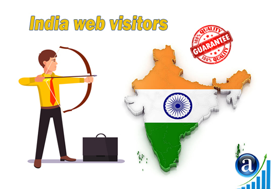 I will send 25000 web visitors from India organic web traffic with search keyword