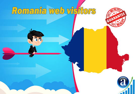 I will send 25000 web visitors from Romania organic web traffic with search keyword