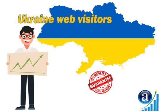 I will send 25000 web visitors from Ukraine organic web traffic with search keyword