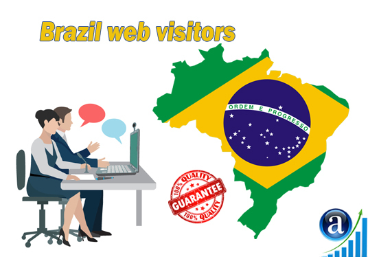 I will send 25000 web visitors from Brazil organic web traffic with search keyword