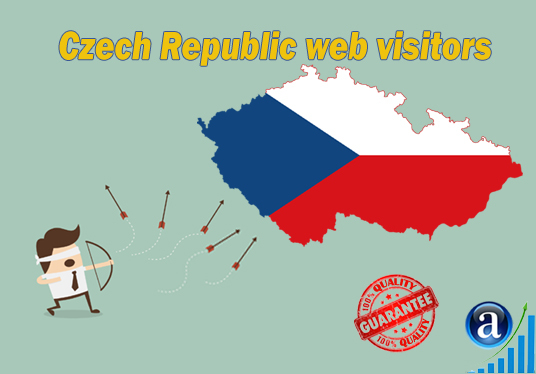 I will send 25000 web visitors from Czech Republic organic web traffic with search keyword