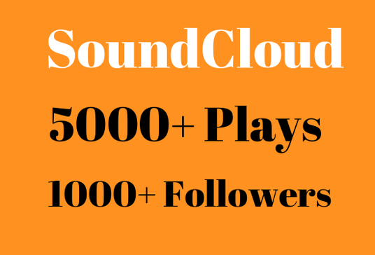 I will Provide 1000+  soundcloud  followers and 5000+ plays