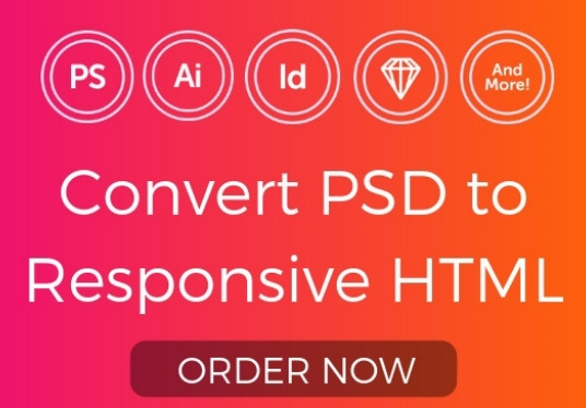 I will Convert PSD To HTML in 24 hours