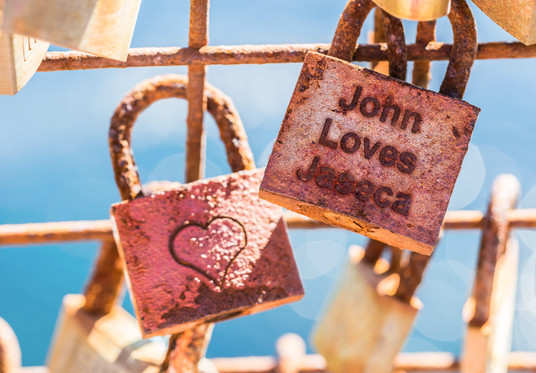 I will Write Your Loved One's Name Or Any Text On Love Lock