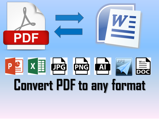 I will convert PDF files to ms word and to other formats