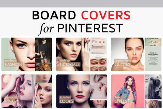 I will create board covers for pinterest