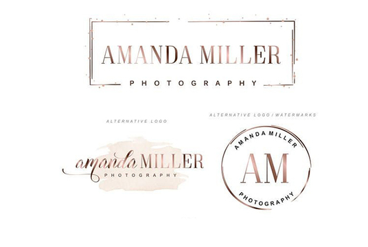 I will design an elegant signature logo with branding package
