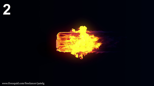 Create Fire Explosion Reveal Intro Animation Video