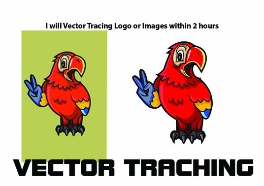 I will vector trace logo or image very quickly