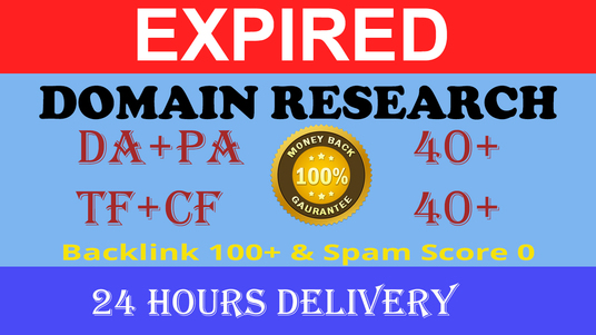 I will Do Best Expired Domain Research