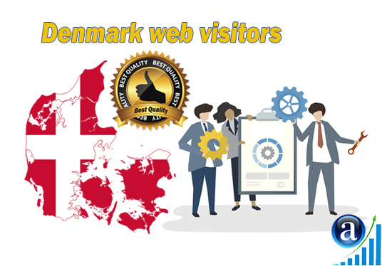 send Real web visitors from Denmark High Quality web traffic