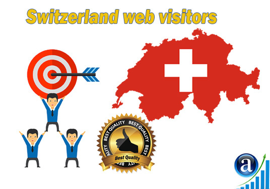 send Real web visitors from Switzerland High Quality web traffic