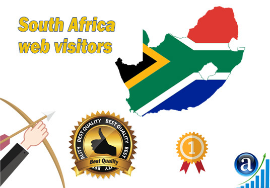 I will send Real web visitors from South Africa High Quality web traffic