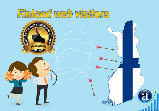I will send Real web visitors from Finland High Quality web traffic