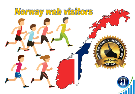 send Real web visitors from Norway High Quality web traffic