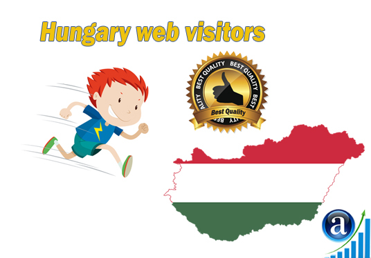 I will send Real web visitors from Hungary High Quality web traffic
