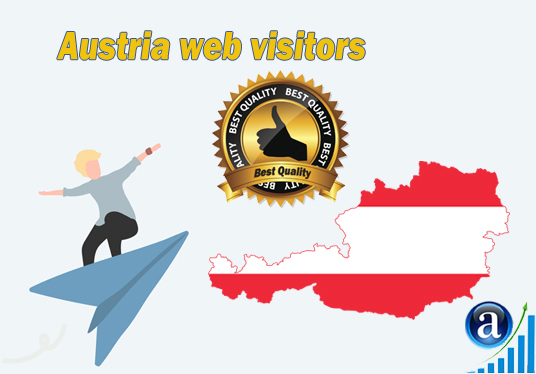 I will send Real web visitors from Austria High Quality web traffic