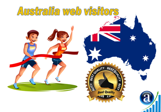 I will send Real web visitors from Australia High-Quality web traffic from Australia