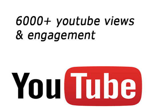 I will give 6000+ youtube views and engagement