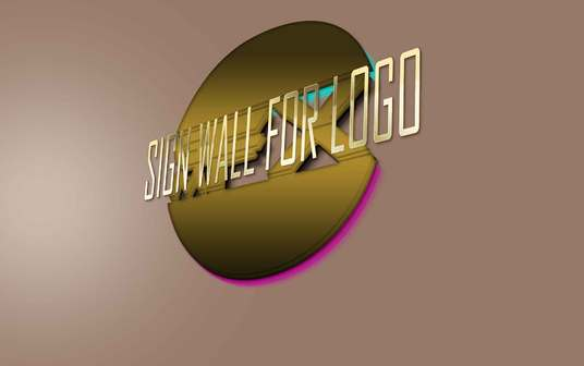 I will Do Wall Sign Logo Mockup