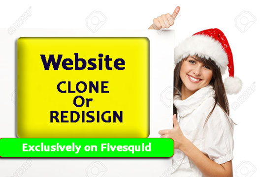 clone or redesign your website by WordPress