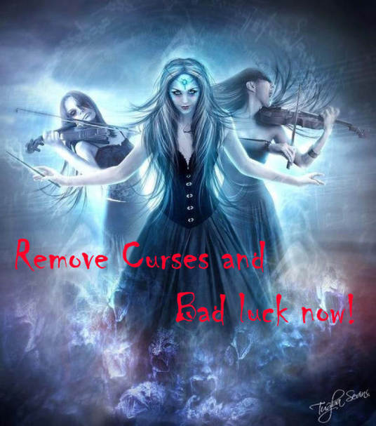 I will remove curses and bad luck with a powerful cleansing spell