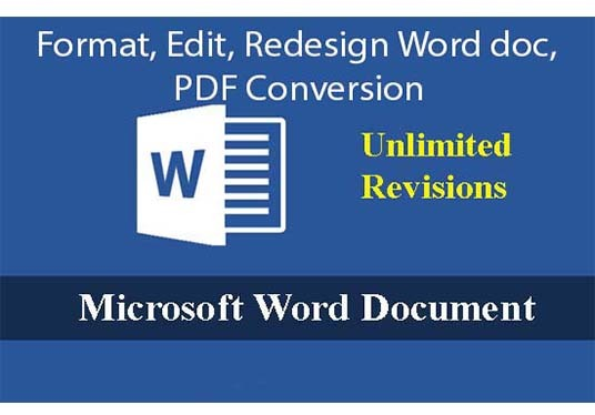 create, format, edit and redesign word document
