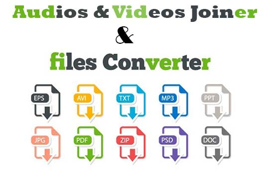 I will Convert images, videos, documents, audios and more to other formats