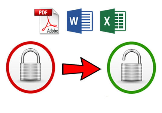 remove your forgotten Restriction Password for PDF, Word,  Excel