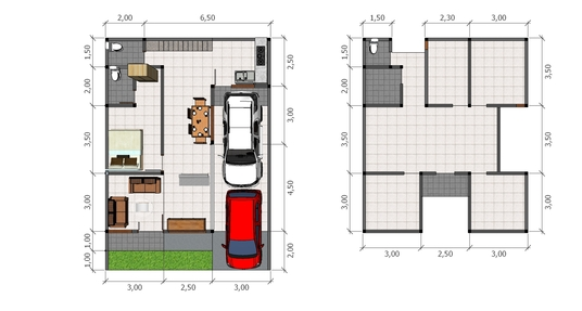 I will make a 2D color houseplan for you, in just 2 days