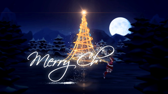I will create this wonderful christmas greeting video
