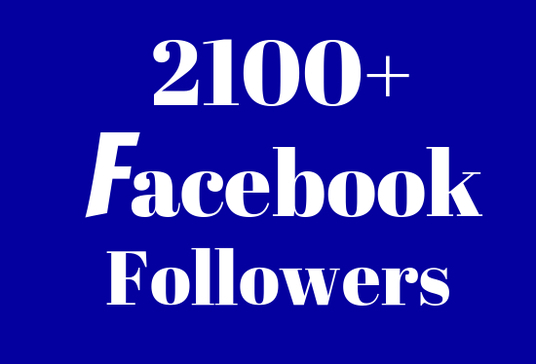 I will add 2100+ Facebook real Followers