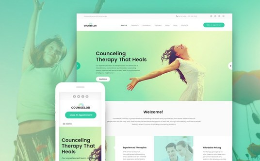 I will create a Counselling website using Wordpress