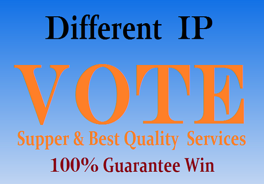 I will give you 1000 genuine IP  votes by real people on  your any contest