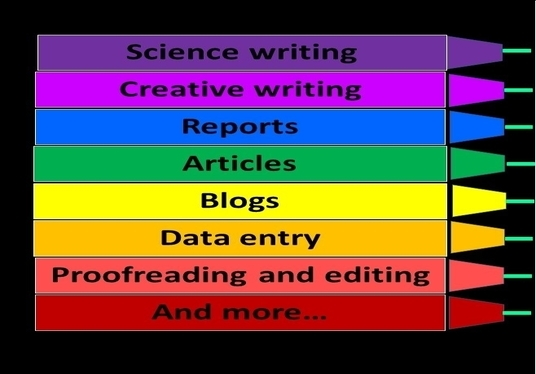 I will analyse data, proofread and write content