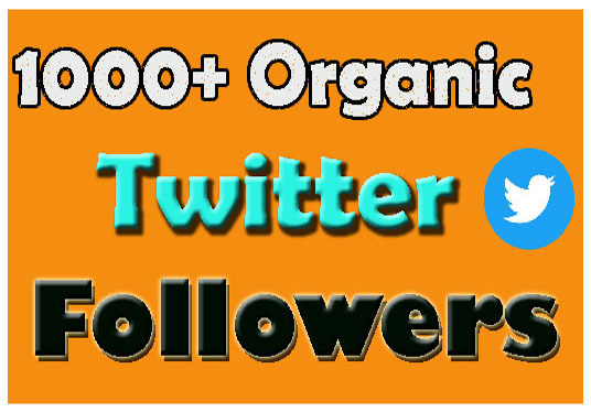 I will give 1000+organic Twitter followers