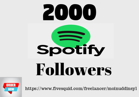 I will do organic 2000  Spotify Real Followers