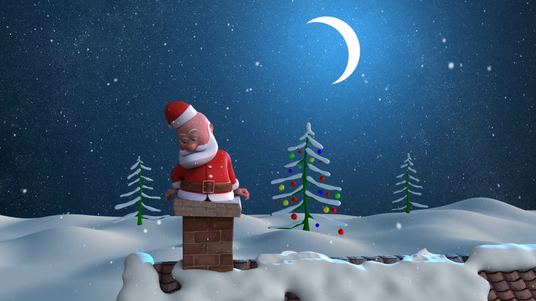 I will Create Santa Claus Animation Christmas wishes Video