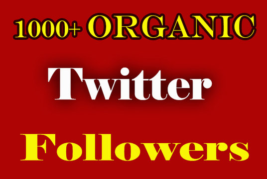 I will Give 1000+ Organic Twitter Followers